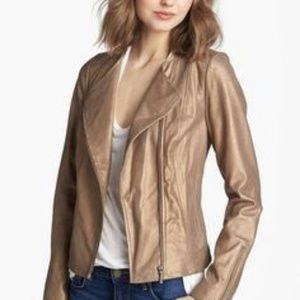 NWOT Gold Trouve Leather Moto Jacket